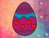 Huevo con corazones