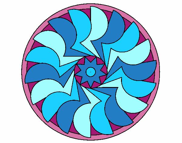 Dibujo Mandala 27 pintado por bonfi