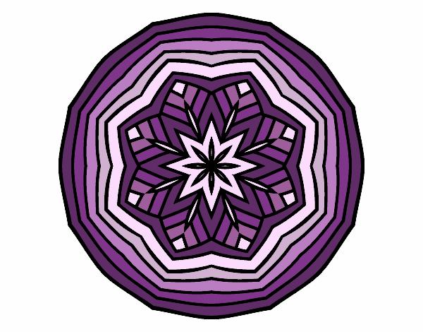 Dibujo Mandala cenital pintado por bonfi