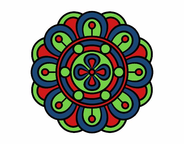 Dibujo Mandala flor creativa pintado por bonfi