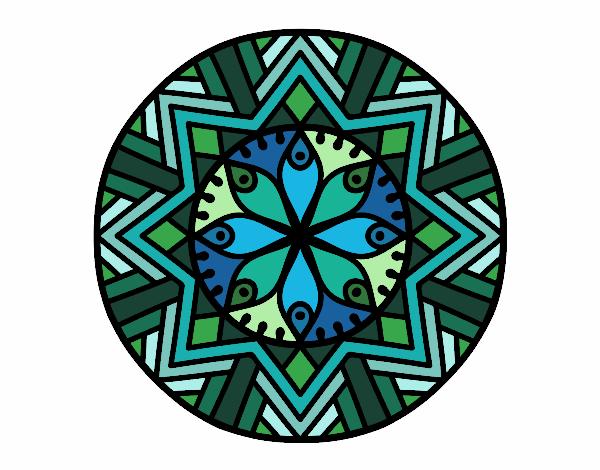 Dibujo Mandala flor de bambú pintado por bonfi