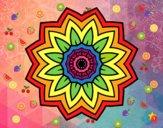 Dibujo Mandala flor de girasol pintado por AbrilLOLXD