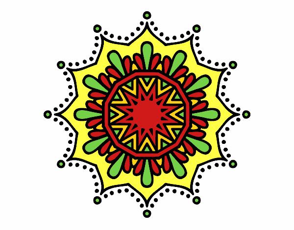 Dibujo Mandala flor de nieve pintado por bonfi