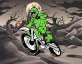 Dibujo Moto de motocross pintado por guillermob