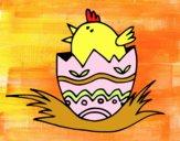 Pollito en el cascarón