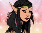 Dibujo Princesa elfo pintado por dalina