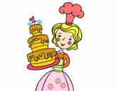 Dibujo Tarta de cumpleaños casera pintado por SC15