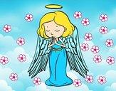 Un ángel orando
