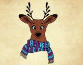 Ciervo con bufanda