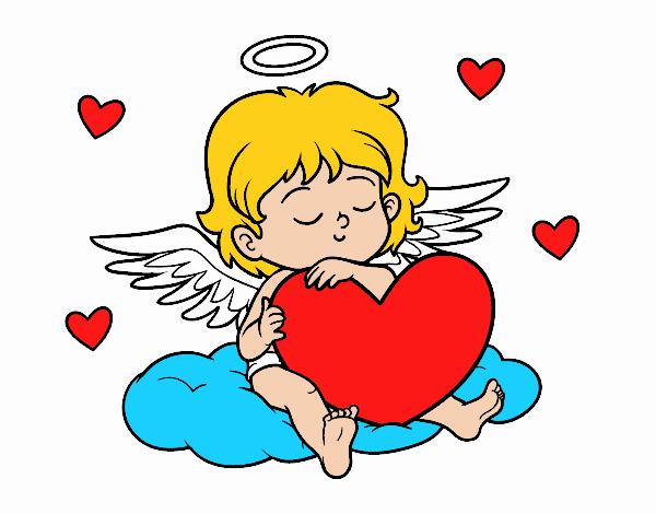 Dibujo De Cupido Con Corazón Pintado Por En Dibujos.net