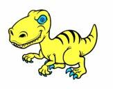 Dibujo Dinosaurio velociraptor pintado por EstebanAar