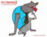Dibujo Hombre Lobo Wayne pintado por edduar1