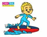 Niño surfista Color Roll