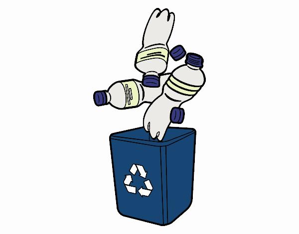 Dibujo Reciclaje de botellas pintado por Maia8a