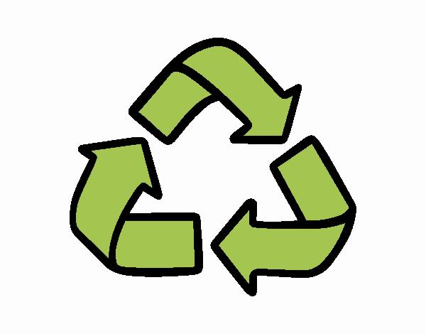 Dibujo Símbolo del reciclaje pintado por Maia8a
