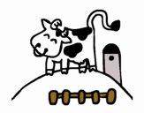 Dibujo Vaca feliz pintado por Maia8a