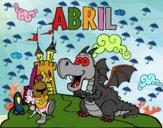 Dibujo Abril pintado por Basilisa