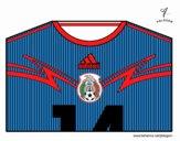 Camiseta del mundial de fútbol 2014 de México