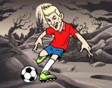 Dibujo Delantero de futbol pintado por BAEL