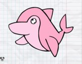 Dibujo Delfín común pintado por minie03