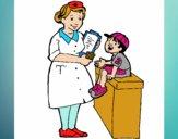 Enfermera y niño
