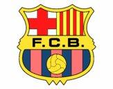 Dibujo Escudo del F.C. Barcelona pintado por BAEL