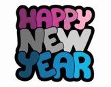 Dibujo Feliz año nuevo pintado por Agosss10
