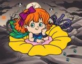 Dibujo Hada sobre una flor pintado por Eskynal