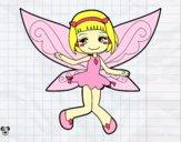 Dibujo Hada voladora pintado por minie03