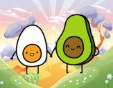 Huevo y aguacate