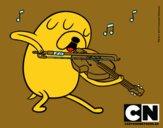 Jake tocando el violín