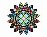 Dibujo Mandala destellos pintado por belkmar
