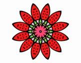 Dibujo Mandala flor con pétalos pintado por belkmar