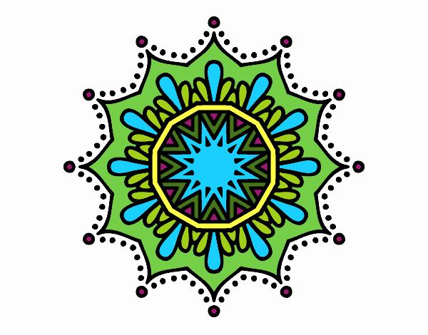 Dibujo Mandala flor de nieve pintado por belkmar