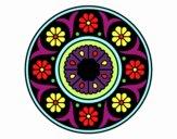 Dibujo Mandala flor pintado por belkmar