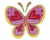 Dibujo Mandala mariposa pintado por itsnadii