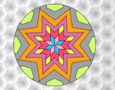 Mandala mosaico estrella
