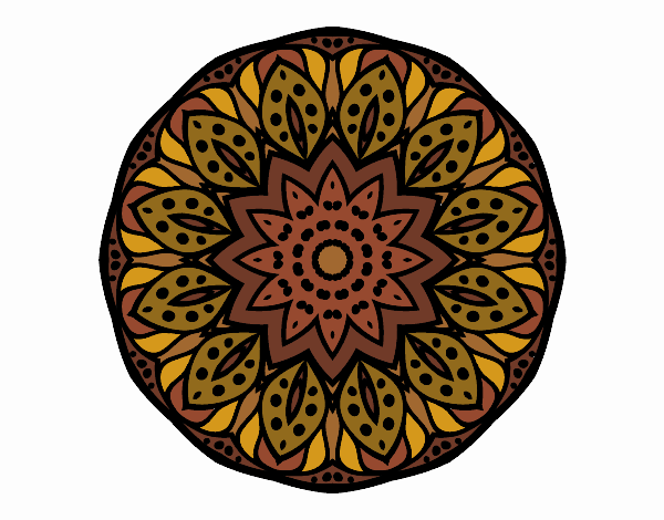 Dibujo Mandala naturaleza pintado por belkmar