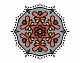 Dibujo Mandala simétrica pintado por belkmar