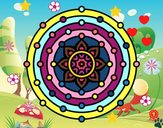 Dibujo Mandala sistema solar pintado por cuyito