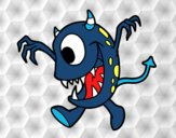Dibujo Monstruo con un ojo pintado por Socovos