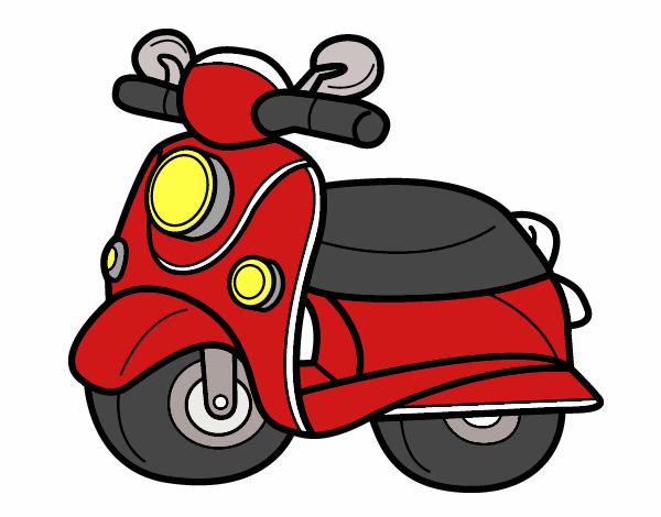 Dibujo Moto Vespa pintado por albabm24
