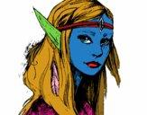 Dibujo Princesa elfo pintado por brisa29