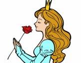 Dibujo Princesa y rosa pintado por ELIANAMIRA