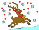 Dibujo Reno de Navidad pintado por kemberly