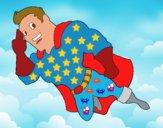 Dibujo Superhéroe volando pintado por IvanCastel