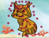 Un mapache joven