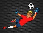 Dibujo Un portero de fútbol pintado por Socovos