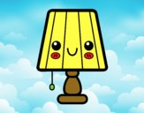 Una lámpara de mesa