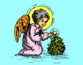 Dibujo Angelito navideño pintado por carlosvill